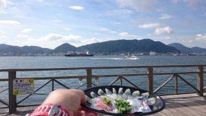関門海峡 with フグ