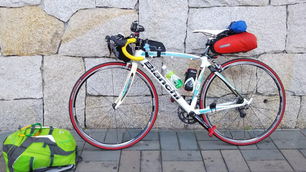 自転車に乗り換え